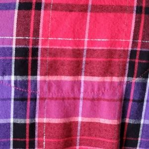 Victoria's Secret Tops - VICTORIAS SECRET * FLANNEL BOYFRIEND NIGHT SHIRT